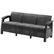 диван тройной CORFU-3  с подушкой (182*70*79) коричневый