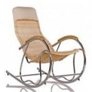 """кресло-качалка""""ФОРМОЗА""""(металл,ротанг),весовая нагрузка 90 кг."""