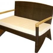 диван-1083 с подушкой,тик (127*70*85)