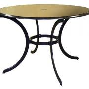 стол обеденный-1009 (в.72,диаметр 110),метал.каркас,отверстие для зонта