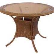 стол обеденный-1013 (в.72,диаметр 110) ,отверстие для зонта
