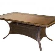 стол обеденный-1012 со стеклом (в.72,180*100)