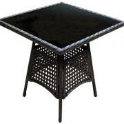 стол обеденный со стеклом 1501(выс.72,70*70)